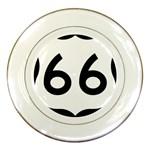 U.S. Route 66 Porcelain Plates Front