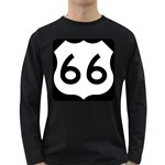 U.S. Route 66 Long Sleeve Dark T-Shirts Front