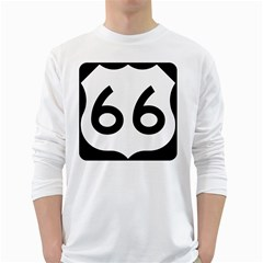 U S  Route 66 White Long Sleeve T Shirts