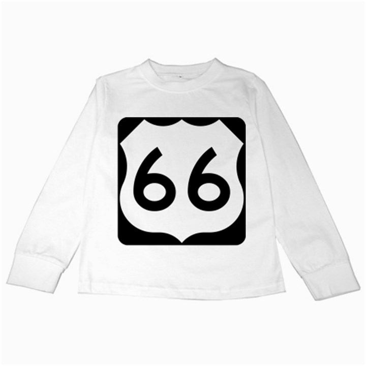 U.S. Route 66 Kids Long Sleeve T-Shirts