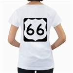 U.S. Route 66 Women s Loose-Fit T-Shirt (White) Back
