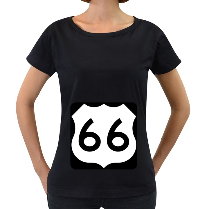U.S. Route 66 Women s Loose-Fit T-Shirt (Black)