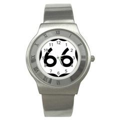 U.S. Route 66 Stainless Steel Watch