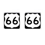 U.S. Route 66 Cufflinks (Square) Front