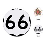U.S. Route 66 Playing Cards (Round)  Front