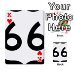 U.S. Route 66 Playing Cards 54 Designs  Front - HeartK