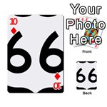 U.S. Route 66 Playing Cards 54 Designs  Front - Diamond10