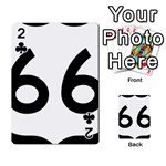 U.S. Route 66 Playing Cards 54 Designs  Front - Club2