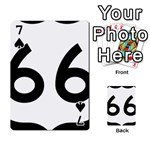 U.S. Route 66 Playing Cards 54 Designs  Front - Spade7