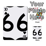 U.S. Route 66 Playing Cards 54 Designs  Front - Spade10