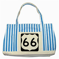 U.S. Route 66 Striped Blue Tote Bag