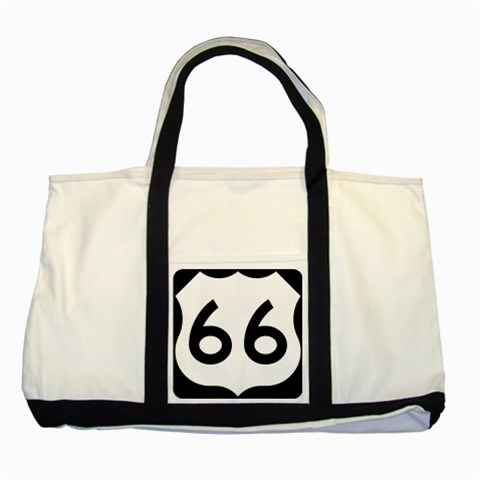 U.S. Route 66 Two Tone Tote Bag