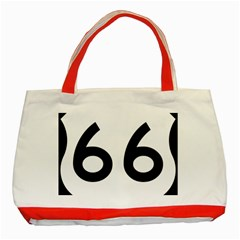 U.S. Route 66 Classic Tote Bag (Red)