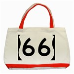 U.S. Route 66 Classic Tote Bag (Red) Front