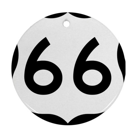 U.S. Route 66 Round Ornament (Two Sides)