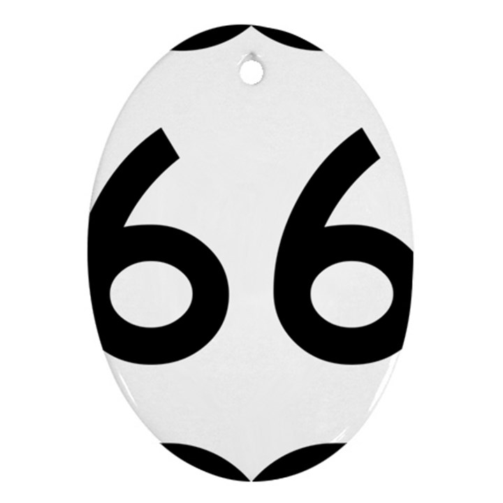 U.S. Route 66 Oval Ornament (Two Sides)
