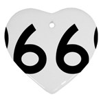 U.S. Route 66 Heart Ornament (2 Sides) Back