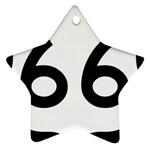 U.S. Route 66 Star Ornament (Two Sides)  Back