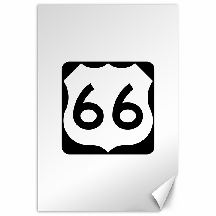U.S. Route 66 Canvas 20  x 30