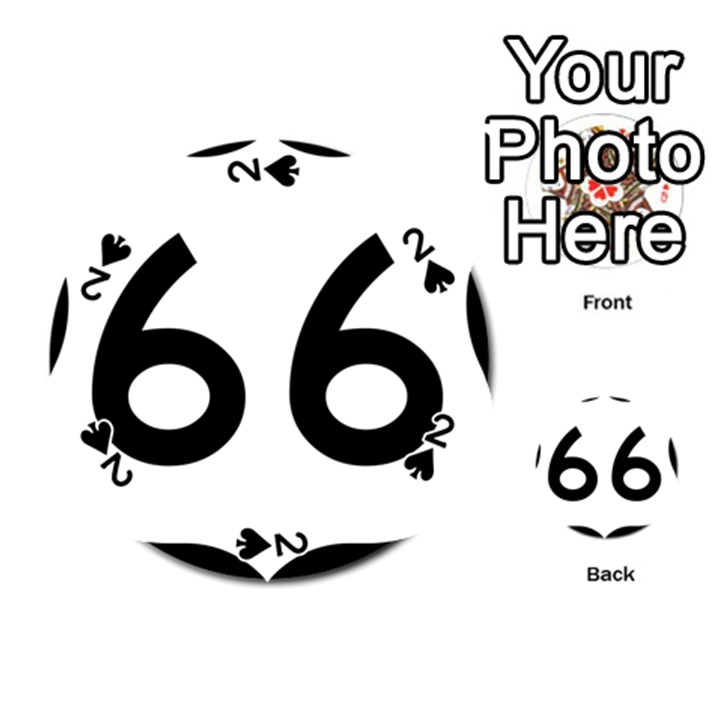 U.S. Route 66 Playing Cards 54 (Round)