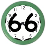 U.S. Route 66 Color Wall Clocks Front