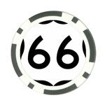 U.S. Route 66 Poker Chip Card Guards Back