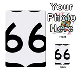 U.S. Route 66 Multi-purpose Cards (Rectangle)  Back 25
