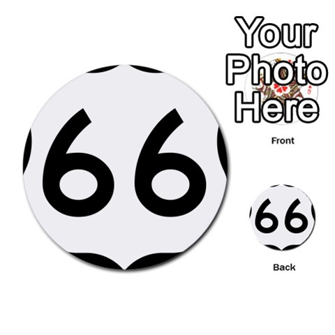 U.S. Route 66 Multi-purpose Cards (Round)
