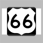 U.S. Route 66 Canvas 18  x 12  18  x 12  x 0.875  Stretched Canvas