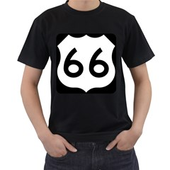 U.S. Route 66 Men s T-Shirt (Black)