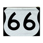 U.S. Route 66 Cosmetic Bag (XL) Back