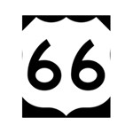 U.S. Route 66 5.5  x 8.5  Notebooks Back Cover Inside