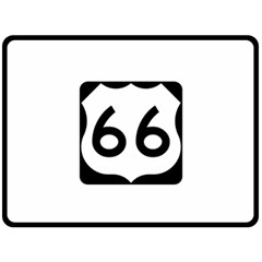 U S  Route 66 Fleece Blanket (large)