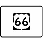 U.S. Route 66 Fleece Blanket (Large)  80 x60 Blanket Front