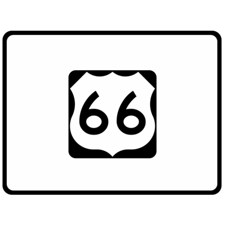 U.S. Route 66 Fleece Blanket (Large)