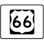 U.S. Route 66 Fleece Blanket (Medium)  60 x50 Blanket Front