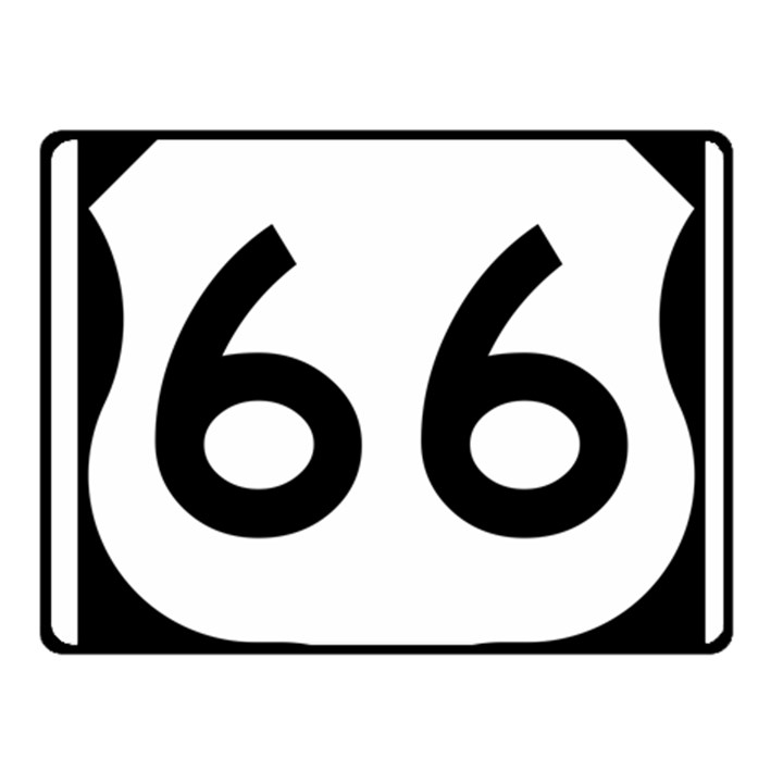 U.S. Route 66 Fleece Blanket (Small)