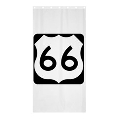 U.S. Route 66 Shower Curtain 36  x 72  (Stall)