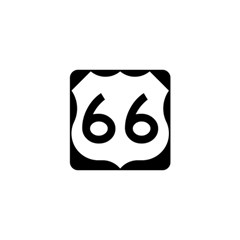 U S  Route 66 Shower Curtain 48  X 72  (small)