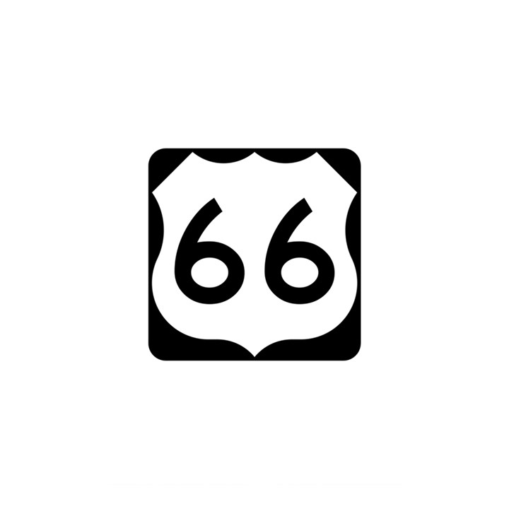 U.S. Route 66 Shower Curtain 48  x 72  (Small)