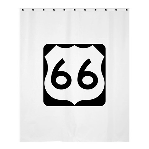 U.S. Route 66 Shower Curtain 60  x 72  (Medium)