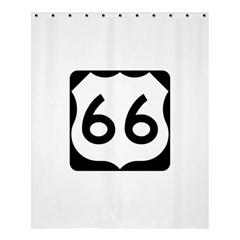 U.S. Route 66 Shower Curtain 60  x 72  (Medium)