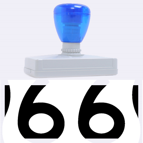 U.S. Route 66 Rubber Address Stamps (XL)