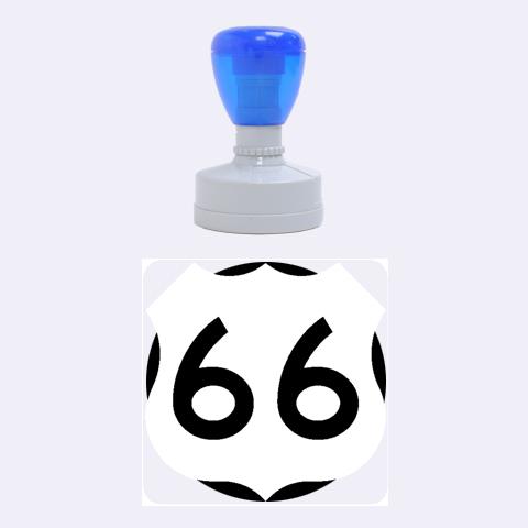 U.S. Route 66 Rubber Round Stamps (Medium)