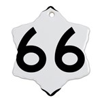 U.S. Route 66 Ornament (Snowflake)  Front