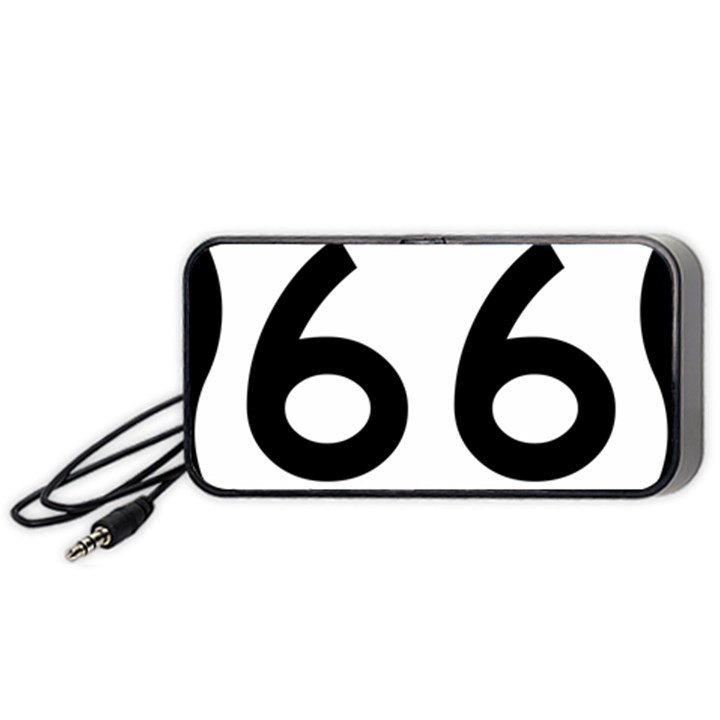 U.S. Route 66 Portable Speaker (Black)
