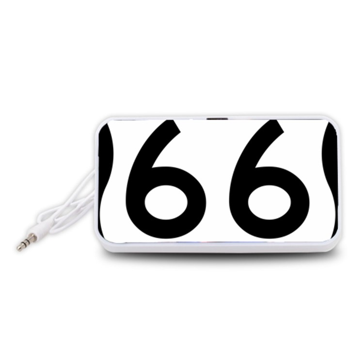 U.S. Route 66 Portable Speaker (White)
