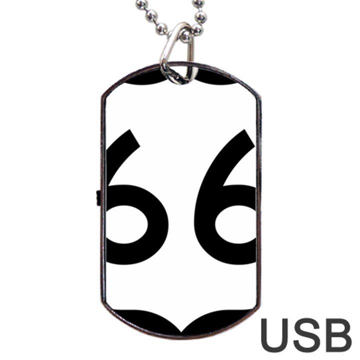 U.S. Route 66 Dog Tag USB Flash (One Side)