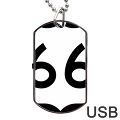 U.S. Route 66 Dog Tag USB Flash (Two Sides)
