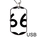 U.S. Route 66 Dog Tag USB Flash (Two Sides)  Back